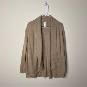 Chico's Tan Open Front Cardigan Womens XL 16
